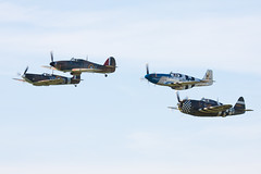 The Eagle Squadron (Huw Hopkins LRPS Photography) Tags: england spring united hurricane may kingdom x airshow ia duxford spitfire cambridgeshire mk 1a hawker airfield iwm supermarine 2013 mkx ae977 ar213 mk1a mkia p7308
