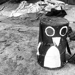 """Even the penguin suffered a little from last night's teargas attacks. Real animals are dropping death from teargas overdose. #turkishprotest #penguinprotest #istanbul #gezipark • <a style=""""font-size:0.8em;"""" href=""""http://www.flickr.com/photos/8861229@N06/9024508374/"""" target=""""_blank"""">View on Flickr</a>"""