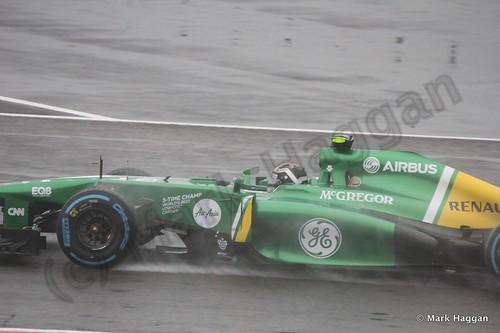 Giedo van der Garde in Free Practice 1 for the 2013 British Grand Prix