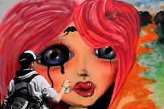 2013 Upfest Bristol - Graffiti Artist Faigy - Artist at Work (Andy_Hartley) Tags: uk england urban streetart art bristol mural europe grafitti graf wallart spray urbanart aerosol graffitiartist spraycan graffitiart upfest 2013 urbanpaintfestival faigy