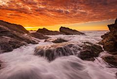 Sunrise at Broken Head, Bybon bay, NSW (NaphakM) Tags: new travel sea sky cloud seascape beach rock wales sunrise bay coast south wave australia coastal destination byron