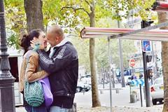 2013-08-31  Place de la Bastille - Boulevard Richard-Lenoir (P.K. - Paris) Tags: street people paris french kiss kissing couple candid august lovers sidewalk amour bisou lover smack aot baiser amoureux 2013