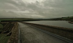 Dam .. Weather! (Missy Jussy) Tags: england sky clouds canon landscape path dam yorkshire panoramic reservoir views fields walkways walls pylons westyorkshire baitingsdam
