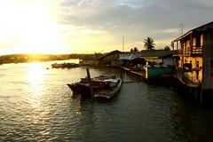 Sunset at Manggar, Balikpapan (noirvane) Tags: sunset river indonesia boat fisherman balikpapan manggar