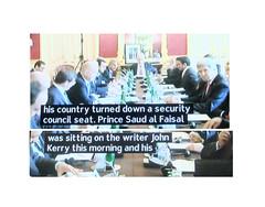 2013_10_230005 (1.5) - Prince Saud sitting on writer John Kerry (Gwydion M. Williams) Tags: uk greatbritain england funny britain humor humour syria saudiarabia subtitles captions subtitle assad arabs misprint saudis islamists misprints syriancivilwar