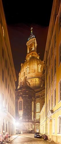 Salzgasse, Blick auf die Frauenkirche
