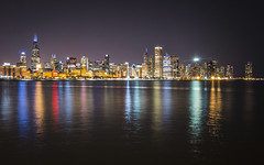 blue city night (olsonj) Tags: chicago skyline night illinois lakemichigan