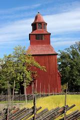 Seglora kyrka (Yvonne L Sweden) Tags: summer sunshine day stockholm lin skansen sommar kyrka seglora solsken gärdesgård