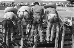 CHARROS MEXICO 1970S RODEO WEARING LEATHER CHAPS (Homer Sykes) Tags: hat cowboys mexico mexican 70s rodeo sombrero 1970s 1973 charro leatherchaps travelstock archivestock myref30499