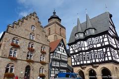Marktplatz mit Rathaus, Alsfeld Hessen (Sekitar) Tags: old city germany deutschland europe hessen rathaus altstadt allemagne marktplatz alsfeld