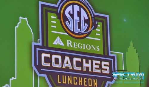 """Audiovisual Production Atlanta SEC Coaches' Luncheon 2013 • <a style=""""font-size:0.8em;"""" href=""""http://www.flickr.com/photos/57009582@N06/11242019323/"""" target=""""_blank"""">View on Flickr</a>"""