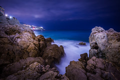 (jpmiss) Tags: longexposure sea mer night canon nice mediterranean cotedazur nuit starburst 6d frenchriviera mediterranée 1635mm jpmiss raubacapeù