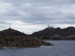 Rona Lighthouse, Isle of Rona, May 2011 (allanmaciver) Tags: lighthouse white david cold island grey rocks thomas may dramatic location stevenson edge ac