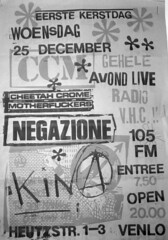 flyer for the all-italian x-mas hardcore punk show in Venlo, Holland, 1985