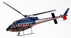 Police Helicopter - Spain {DSC07059 edited (dfp@Fractal 5) Tags: barcelona above blue costa white during flying surveillance flight taken police helicopter spanish midair protests brava blades policia rotor directly patrolling mossos desquadra bearintheair policingtheair
