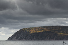 Cliffs of Cape Breton (Dorsal_Fin) Tags: ocean autumn trees sea canada fall water colors clouds forest dark highlands colours novascotia ominous cliffs capebreton maritimes eastcoast