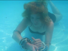 Lady Houdini, Dayle Krall Practicing in the Pool (lady.houdini) Tags: water pool escapes houdini breathhold richardsherry daylekrall femaleescapeartist ladyhoudini