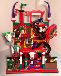 Brickmasters101 contest entry: Joker's Lair / Funhouse