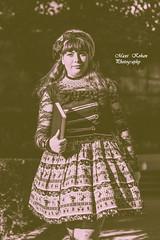 Dahlia Black (MaxiKohan) Tags: people girl sepia book lolita maxikohanphotography