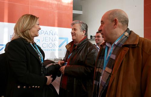 Pilar del Olmo y Julio López en la Convención Nacional del Partido Popular