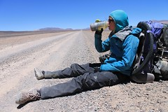 Drink break near Laguna Brava