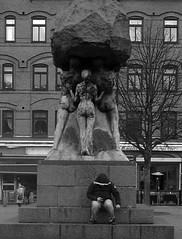 The Facebook Look (brandsvig) Tags: street bw sculpture square skåne sweden gr sverige february grdigital torg malmö ricoh facebook ebbe 2014 möllan möllevången grii möllevångstorget axelebbe arbetetsära