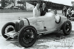 122-30 Chassis #2 -1930 Augie built 4 speedway cars. #12 Deacon Litz entered by Henry Maley Riding mechanic Shorty Barnes