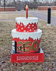 SIUE Cake (Mike Matney Photography) Tags: canon march illinois midwest birthdaycake stl edwardsville 2014 siue eosm stl250