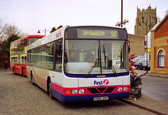 First V586DVF Sudbury (The original SimonB) Tags: 2001 november film buses suffolk transport first scanned sudbury