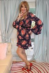 Lucky Lips (Julie Bracken) Tags: old red party portrait cindy fashion hair ginger tv cd mini skirt crossdressing tgirl transgender mature tranny transvestite heels pantyhose crossdresser nylon kinky trannie mtf 2015 m2f feminized enfemme xdresser tgurl feminised transsisters julieb85