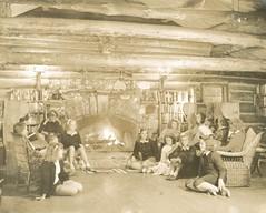 Camp Blazing Trail Lodge (sctatepdx) Tags: camp maine logcabin denmarkmaine girlscamp vintageinterior vintagelogcabin campblazingtrail vintagecampbuilding