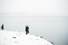 Zoe & Nick (Nicolette Ivy) Tags: portrait sureal woods fashion wedding canon6d snow naturallight forest couple couplephotography engagement engagementring lakecushman winterportrait snowportrait engagementportrait