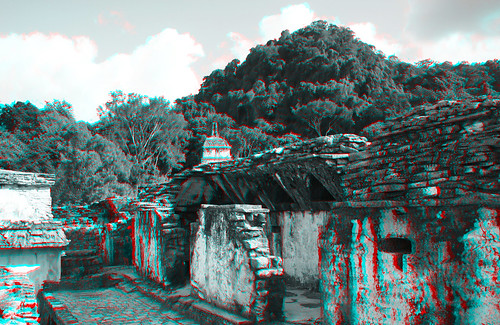 Palenque MEX - The Palace Anaglyph 3d