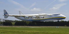Antonov An-225 about to touch down at Shannon (birrlad) Tags: ireland 6 airplane airport clare aircraft aviation airplanes cargo landing shannon engines airline co approach airlines russian runway biggest airliner freighter antonov an225 mriya