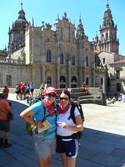 The Finish Line (caitlin.hassler) Tags: spain hiking santiagodecompostela pilgrim elcaminodesantiago thewayofstjames