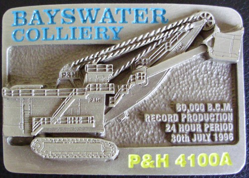 BAYSWATER COLLIERY P&H 4100A ROPE SHOVEL