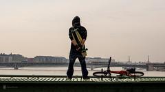 Flood watcher (Balázs Kiss) Tags: bridge liberty flood budapest olympus duna danube omd mft szabadsághíd árvíz microfourthirds