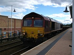 EWS - DB Schenker Class 66 66066 - Mansfield (the mother '66' 66001) Tags: mansfield class66 ews toton 66066 dbschenker shireoakswestjn