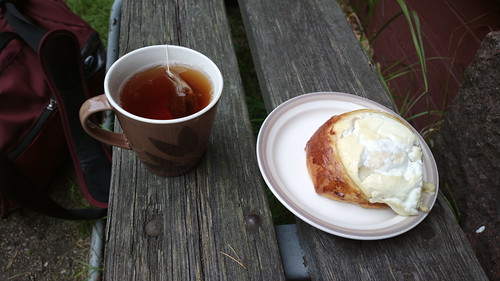 Rahkapulla and tea after a 40km cycle