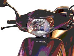 Honda Activa I 110 ( head-light-view ) (girnar1) Tags: bike honda 110 activa i headlightview