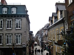 Vieux-Québec - Rue du Petit Champlain (JeanLemieux91) Tags: old city winter mars canada de march hiver vieja québec invierno marzo ville vieille vieuxquébec