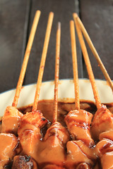Sate Ayam.......enak sekali! (Triple_B_Photography) Tags: wood travel vacation bali food holiday chicken tourism cooking indonesia asian lunch restaurant hotel yummy asia sauce eating traditional culture lifestyle location tourist bamboo resort explore delicious charcoal elements fragrant tropical destination dining local hungry satay makan skewer scent sate balinese matahari makanan lokal 500d tulamben 2013 rumahmakan elementsorganizer