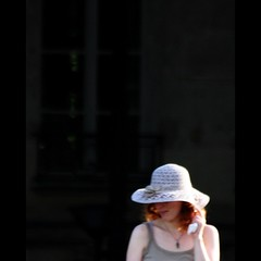 White Hat ~ In Search of Lost Time ~  Paris ~ MjYj (MjYj) Tags: city blue light sunset summer urban woman sun white paris sexy art love beauty hat fashion silhouette dark lost gold marcel search hit couple pretty solitude photographer time magic forum creative photojournalism documentary dancer things pop yeux amour memory record romantic paparazzi eden feeling remembrance madeleine past blanc reflets proust pleasure involuntary tendre encounters espoir freelancers img4679 mjyj mjyj