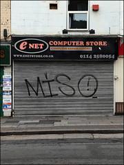 Miso (Alex Ellison) Tags: uk england urban shop miso graffiti store sheffield shutter graff southyorkshire yorks
