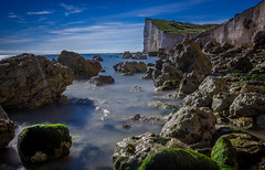Times change (JamesStreeterphotography) Tags: longexposure sunset sea england sky sun mist green wet water stone forest sussex exposure stones east eatsussex