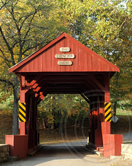 Ebenzer Covered Bridge over Mingo Creek, Washington County, Pennsylvania (jag9889) Tags: park bridge wooden crossing pennsylvania historic pa covered washingtoncounty 2013 ebenezerbridge mingocreek ebenezercoveredbridge mingocreekcountypark jag9889