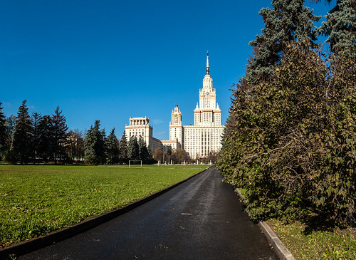 Main building of moscow university by hombit