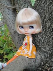 Her beautiful polka-dot eyes