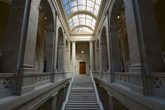House Wing (Eric Hunt.) Tags: house stair skylight capitol staircase marble beauxarts arkansasstatecapitol