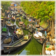 Parking Lot (Artypixall) Tags: creek boats market burma getty myanmar faa nyaungshwe